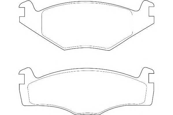 Тормозные колодки Тормозные колодки Wagner PAGID арт. WBP20887A