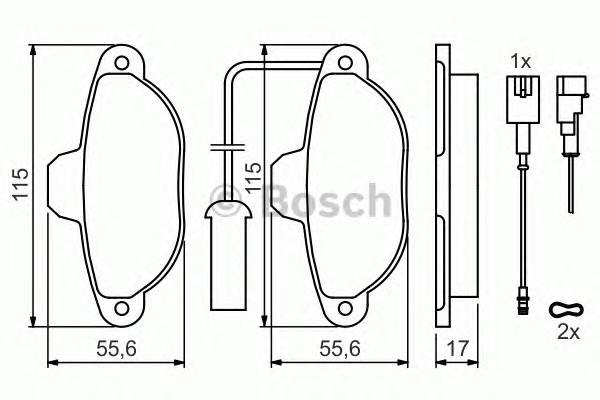 Тормозные колодки Тормозные колодки дисковые ABE арт. 0986424379