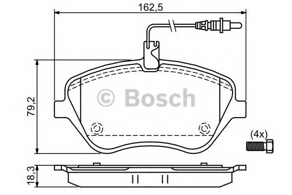 Тормозные колодки Тормозные колодки дисковые передние Peugeot 407 2.2 607 2.2 3.0 04- ABE арт. 0986494098