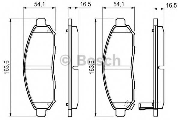 Тормозные колодки Тормозные колодки Bosch ABE арт. 0986494151