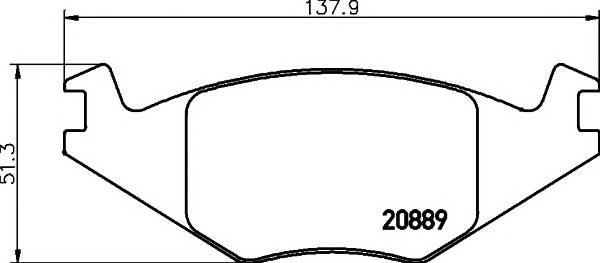 Тормозные колодки Тормозные колодки дисковые TEXTAR арт. 2088902