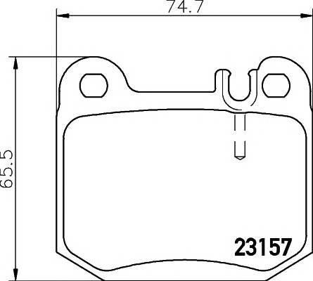 Тормозные колодки Тормозные колодки дисковые TEXTAR PAGID арт. 2315702