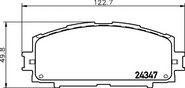 Тормозные колодки Тормозные колодки дисковые Textar ABE арт. 2434701