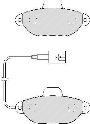 Тормозные колодки Тормозные колодки Ferodo ABE арт. FDB1944