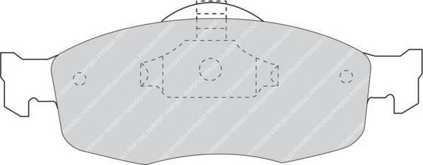 Тормозные колодки Тормозные колодки дисковые FERODO арт. FDB884