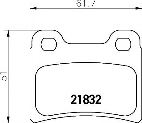 Тормозные колодки 21832/15,0мм Тормозные колодки PAGID PAGID арт. T1123