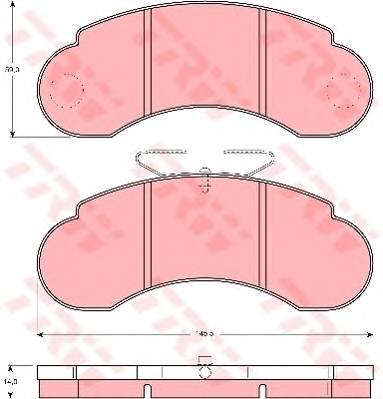 Тормозные колодки Тормозные колодки дисковые ABE арт. GDB1114