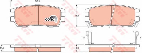 Тормозные колодки Тормозные колодки дисковые PAGID арт. GDB1127
