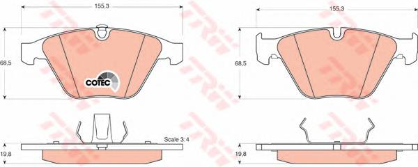 Тормозные колодки Тормозные колодки дисковые PAGID арт. GDB1498