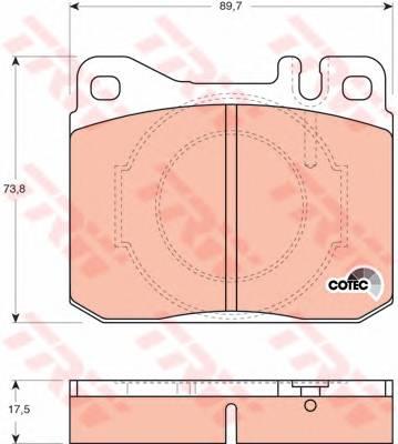 Тормозные колодки Тормозные колодки дисковые PAGID арт. GDB264