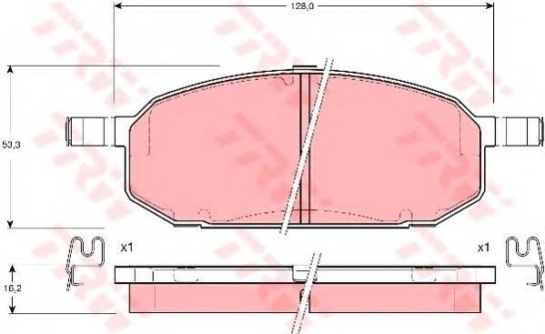 Тормозные колодки Тормозные колодки дисковые PAGID арт. GDB3153