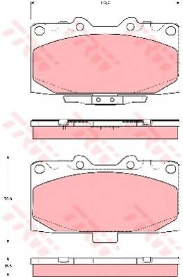 Тормозные колодки Тормозные колодки дисковые PAGID арт. GDB3307