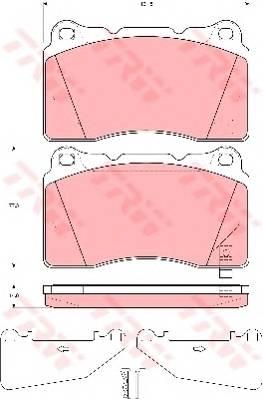 Тормозные колодки Тормозные колодки дисковые PAGID арт. GDB3349