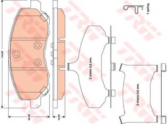 Тормозные колодки Тормозные колодки дисковые PAGID арт. GDB4142
