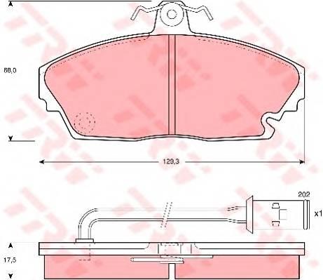 Тормозные колодки Тормозные колодки дисковые PAGID арт. GDB479