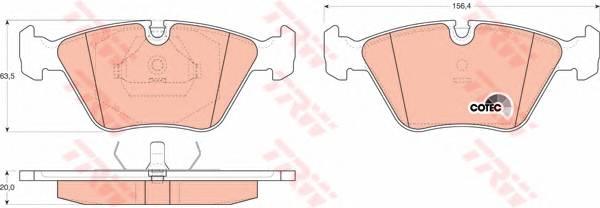 Тормозные колодки Тормозные колодки дисковые ABE арт. GDB916