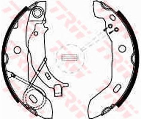 Тормозные колодки Тормозные колодки барабанные PAGID арт. GS8627
