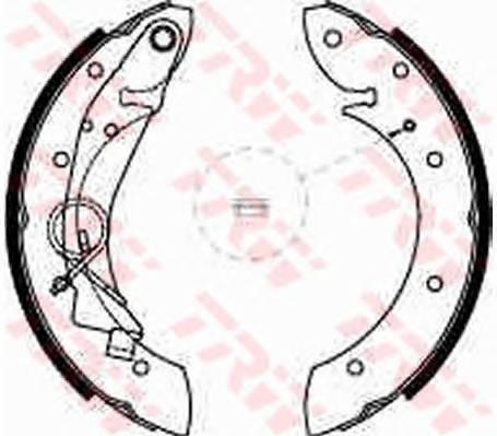 Тормозные колодки Тормозные колодки барабанные ABE арт. GS8635