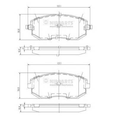 Тормозная система Гальмiвнi колодки, к-кт. PAGID арт. J3607015