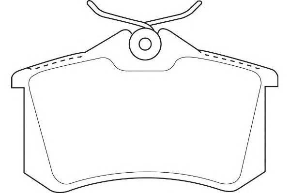 Тормозные колодки Тормозные колодки Wagner PAGID арт. WBP20961C