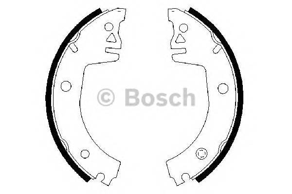 Тормозные колодки Тормозные колодки барабанные BOSCH арт. 0986487326