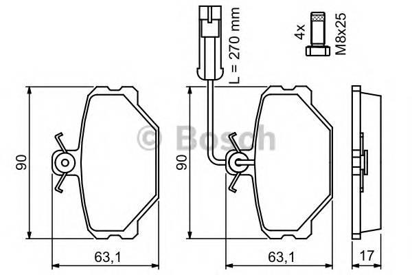 Тормозные колодки Тормозные колодки дисковые ABE арт. 0986491050