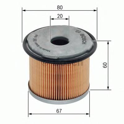 Топливные фильтры Топливный фильтр диз BOSCH арт. 1457429281