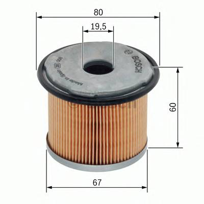Топливная система Фільтр палива BOSCH арт. 1457431713