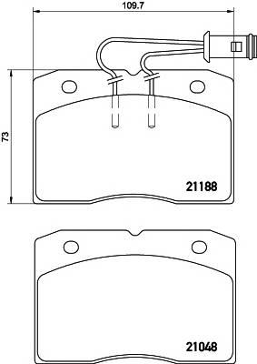 Тормозные колодки Тормозные колодки дисковые ABE арт. 2118801