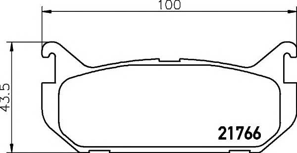 Тормозные колодки Тормозные колодки дисковые PAGID арт. 2176603