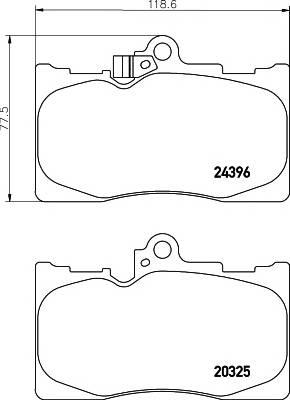 Тормозные колодки Тормозные колодки дисковые TEXTAR ABE арт. 2032501