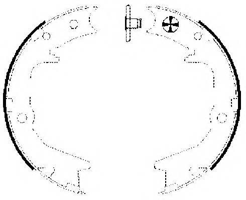 Тормозные колодки Тормозные колодки барабанные ABE арт. 91063000