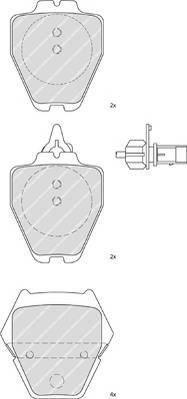 Тормозные колодки Тормозные колодки дисковые PAGID арт. FDB1709