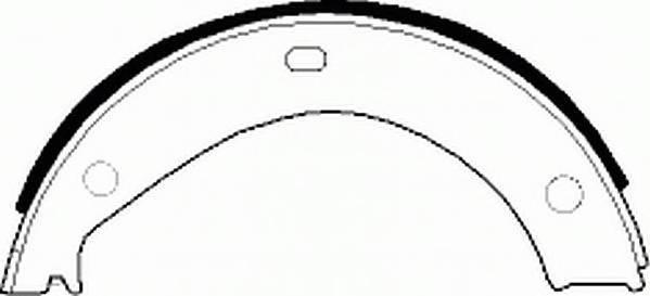 Тормозные колодки Тормозные колодки барабанные Ferodo PAGID арт. FSB272