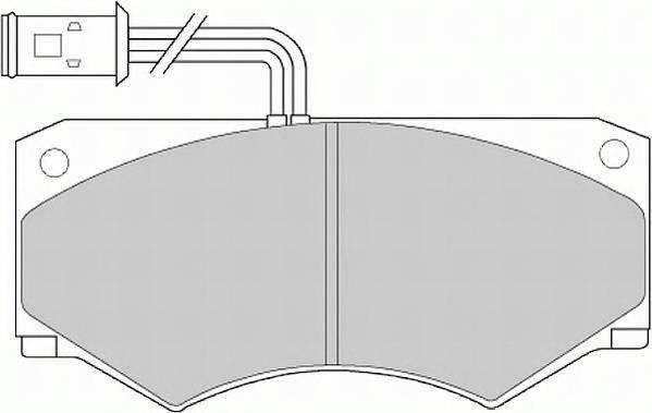 Тормозные колодки Тормозные колодки дисковые ABE арт. FVR516