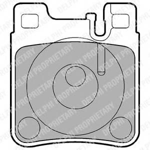 Гальмівні колодки, дискові PAGID арт. LP841