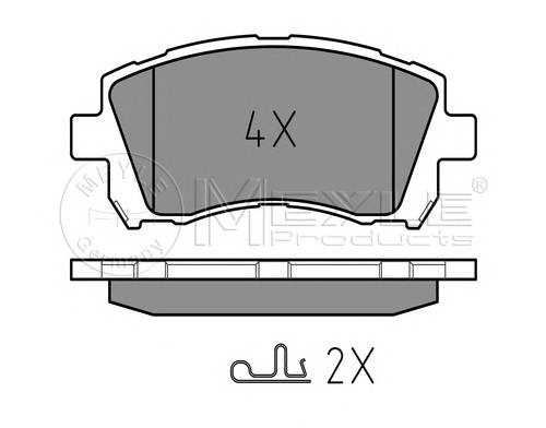 Тормозные колодки Тормозные колодки дисковые PAGID арт. 0252355817W