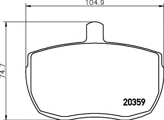 Тормозные колодки 20359/18,0мм Тормозные колодки PAGID PAGID арт. T0381