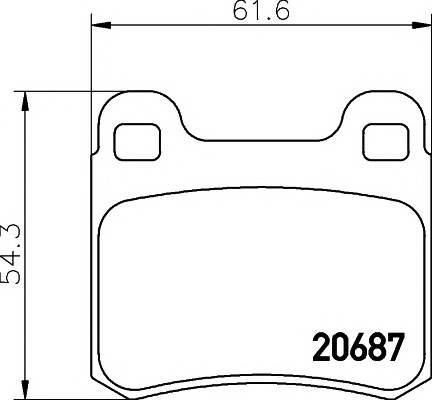 Тормозные колодки 20758/15,5мм Тормозные колодки PAGID PAGID арт. T1010