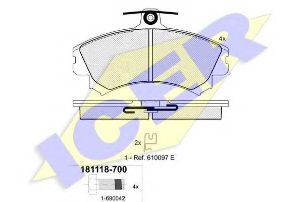 Тормозные колодки Тормозные колодки дисковые PAGID арт. 181118700