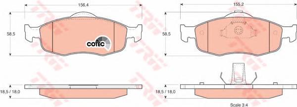 Тормозные колодки Тормозные колодки дисковые PAGID арт. GDB1107