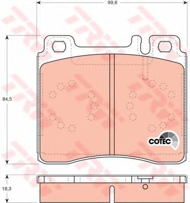 Тормозные колодки Тормозные колодки дисковые PAGID арт. GDB113