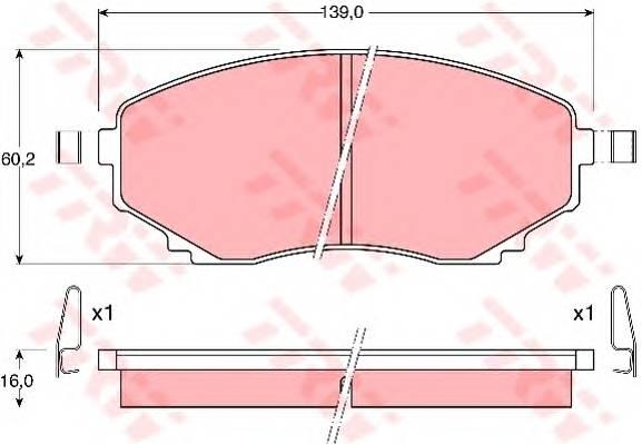 Тормозные колодки Тормозные колодки дисковые ABE арт. GDB1177