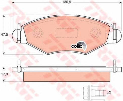 Тормозные колодки Тормозные колодки дисковые ABE арт. GDB1500