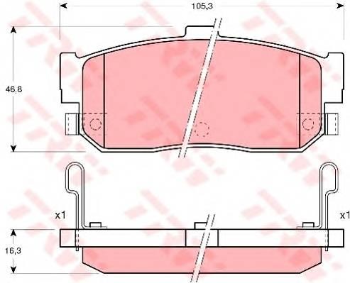 Тормозные колодки Тормозные колодки дисковые PAGID арт. GDB3181