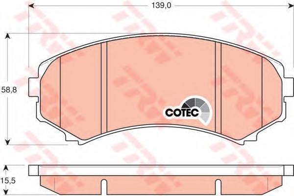 Тормозные колодки Тормозные колодки дисковые ABE арт. GDB3246