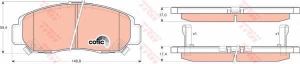Тормозные колодки Тормозные колодки дисковые PAGID арт. GDB3268