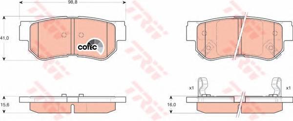 Тормозные колодки Тормозные колодки дисковые PAGID арт. GDB3284