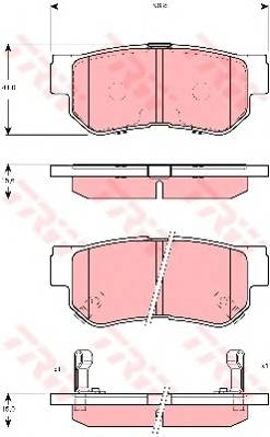 Тормозные колодки Тормозные колодки дисковые PAGID арт. GDB3298
