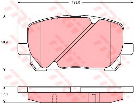 Тормозные колодки Тормозные колодки дисковые ABE арт. GDB3315